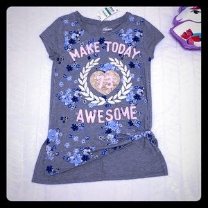 Epic Threads Awesome T-shirt Girls Size L